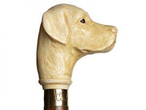 Wandelstok handvat hondenkop