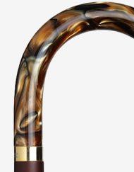 Houten klassieke wandelstok detail